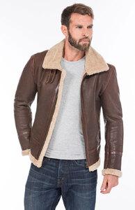 Vêtement en cuir Les bonnes affaires Homme marron