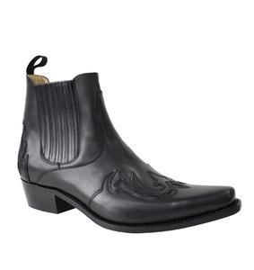Vêtement en cuir Santiags homme noir