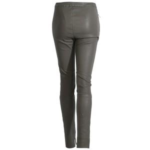 Vêtement en cuir Pantalon cuir kaki