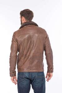 Vêtement en cuir Vestes & Trois Quart cuir marron, cognac