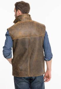 Vêtement en cuir Gilets Cuir & Textile marron