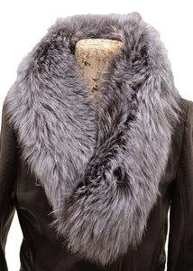 Vêtement en cuir Accessoires gris