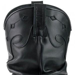 Vêtement en cuir Santiags femme noir