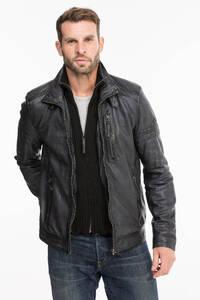 Vêtement en cuir Vestes & Trois Quart cuir gris