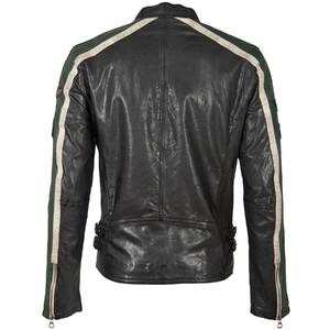 Vêtement en cuir Blousons cuir noir, beige, vert