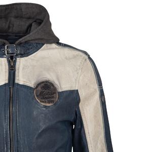 Vêtement en cuir Blousons cuir bleu, blanc