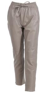 Vêtement en cuir Pantalon cuir beige