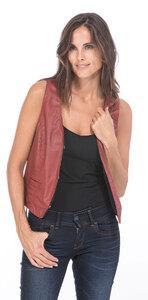 Vêtement en cuir Gilets cuir & fourrure  rouge