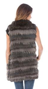 Vêtement en cuir Gilets cuir & fourrure  kaki