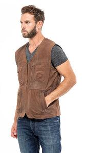 Vêtement en cuir Gilets Cuir & Textile camel