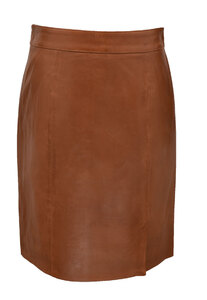 Vêtement en cuir Robes & jupes cuir cognac