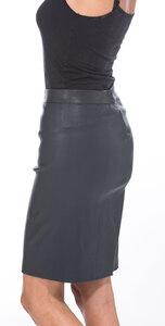 Vêtement en cuir Robes & jupes cuir bleu