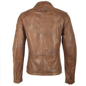 Vêtement en cuir Blousons cuir noisette