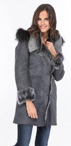 Vêtement en cuir Manteaux cuir gris