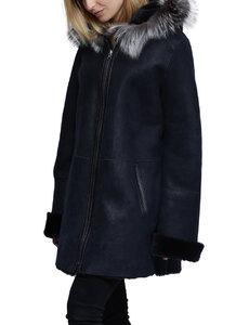 Vêtement en cuir Manteaux cuir bleu