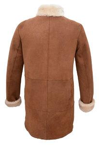 Manteau mouton femme cognac SENTA dos