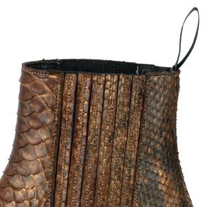 Vêtement en cuir Santiags femme cognac