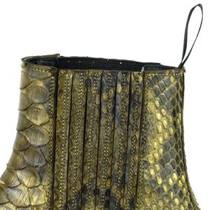 Vêtement en cuir Santiags femme kaki