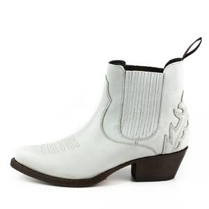 Vêtement en cuir Santiags femme blanc