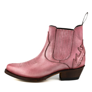 Vêtement en cuir Santiags femme rose