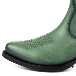 Vêtement en cuir Santiags femme vert
