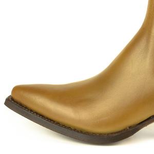 Vêtement en cuir Santiags femme camel