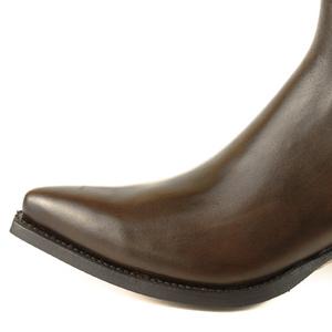 Vêtement en cuir Santiags femme marron