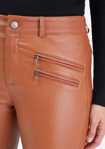 Vêtement en cuir Pantalon cuir cognac