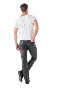 Vêtement en cuir Pantalons cuir noir