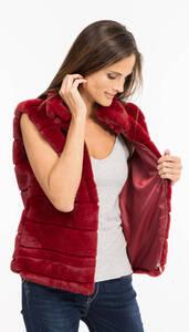 Vêtement en cuir Gilets cuir & fourrure  bordeaux