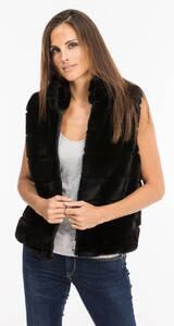 Vêtement en cuir Gilets cuir & fourrure  noir