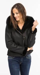 Vêtement en cuir Les bonnes affaires Femme noir