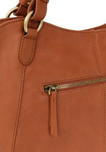 Vêtement en cuir Maroquinerie femme cognac