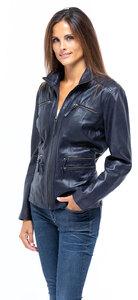 Vêtement en cuir Vestes cuir bleu