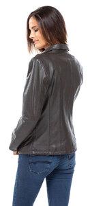 Vêtement en cuir Vestes cuir gris