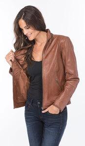 Vêtement en cuir Vestes cuir cognac