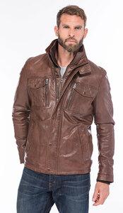 veste cuir homme demi longueur tendance 101455 bison (5)