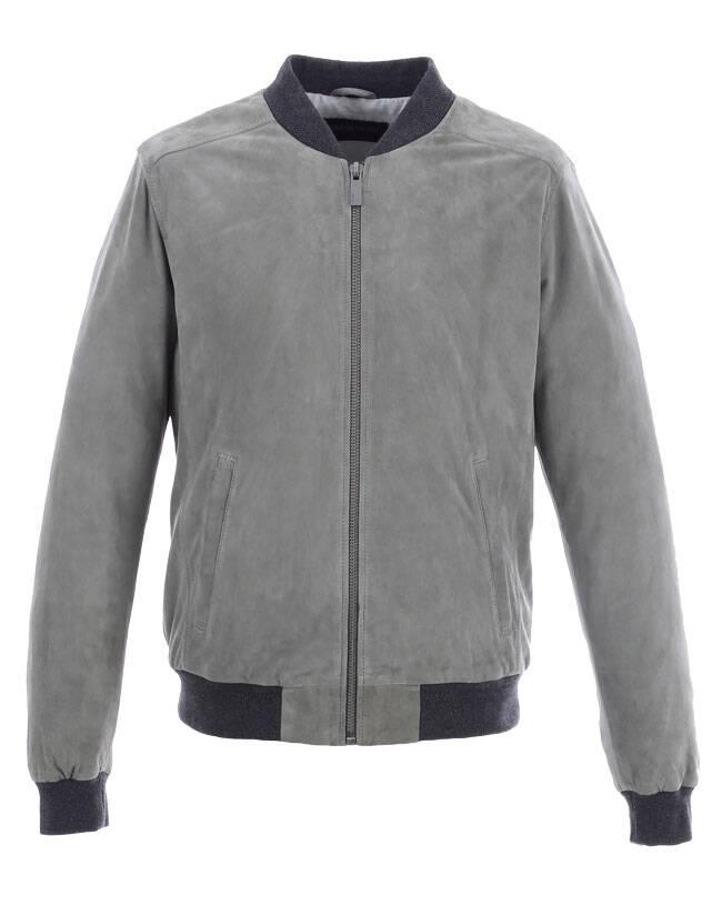 Vêtement en cuir Les bonnes affaires Homme gris
